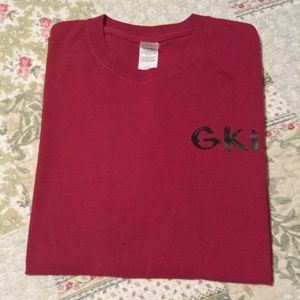 Deep Dark Red GKI Tee Shirt size XL